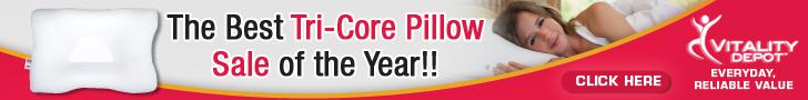 Vitality Depot Tri-Core Pillow Sale